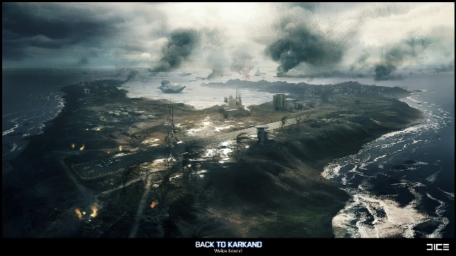 Карта Wake Island в дополнении Battlefield 3: Back to Karkand