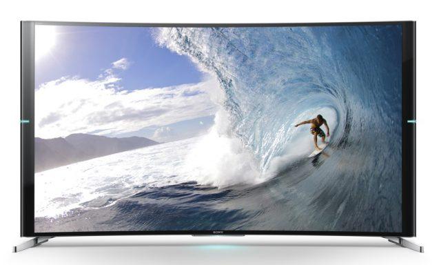 Изогнутые 75-дюймовые 4K 3D-телевизоры BRAVIA KD-75S9005B