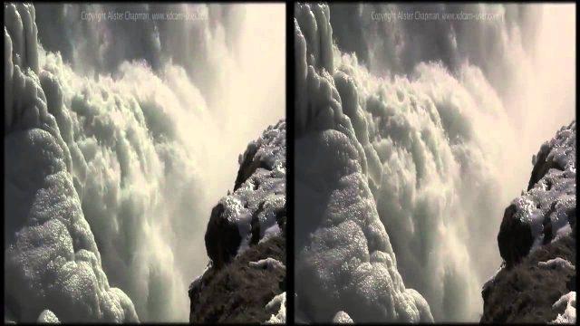 Исландия в трёх измерениях на YouTube 3D