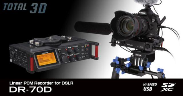 Tascam DR-70D: 4-канальный XLR-рекордер для DSLR