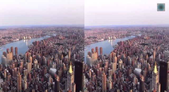 Панорама Нью-Йорка с высоты небоскрёба Эмпайр-стейт-билдинг (Empire State Building).