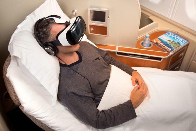 Qantas и Samsung опробуют шлем Gear VR на пассажирах Aerobus A380