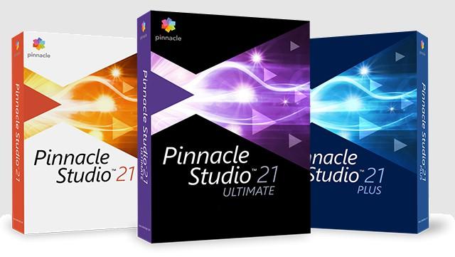 Коробочные версии Pinnacle Studio 21