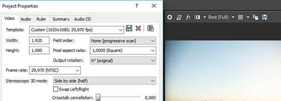 Редактирование 3D-видео с мониторингом изменений