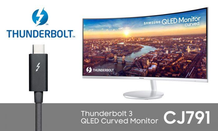 Изогнутый QLED-монитор Samsung CJ791 с портом Thunderbolt 3